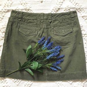 J. Crew Skirt Size 8 Corduroy Army Green FALL